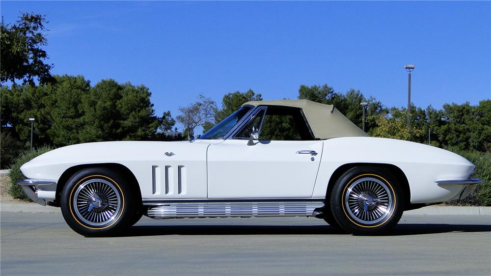 1965 CHEVROLET CORVETTE CONVERTIBLE - Side Profile - 180870