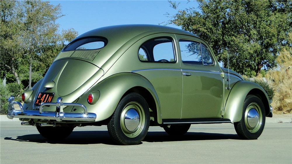 1956 VOLKSWAGEN BEETLE SEDAN - Rear 3/4 - 180871