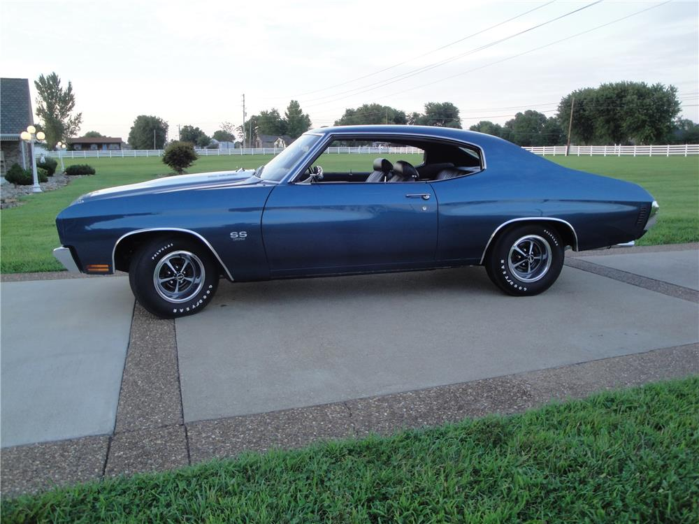 1970 CHEVROLET CHEVELLE SS 396 - Side Profile - 180874