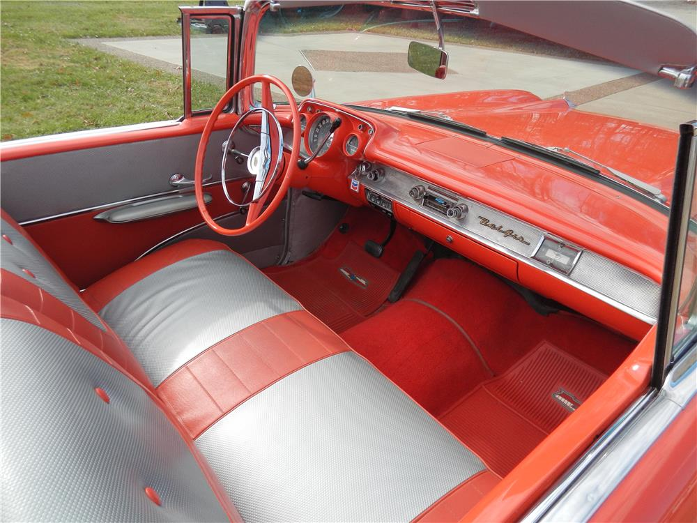 1957 CHEVROLET BEL AIR CONVERTIBLE - Interior - 180879