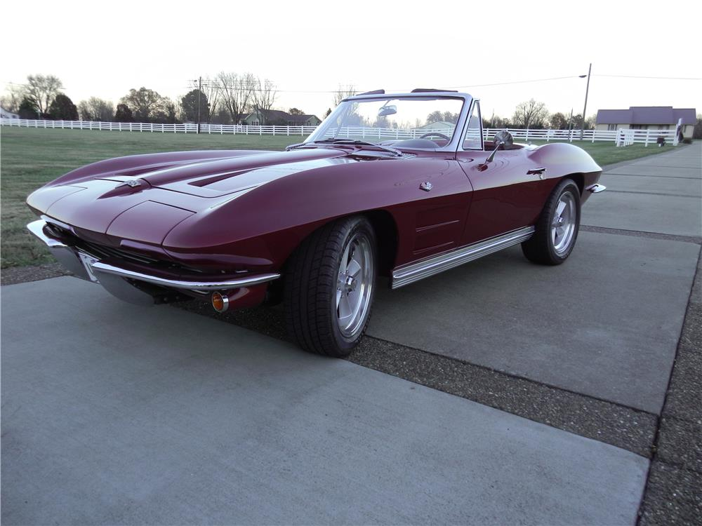 1964 CHEVROLET CORVETTE CONVERTIBLE - Front 3/4 - 180881