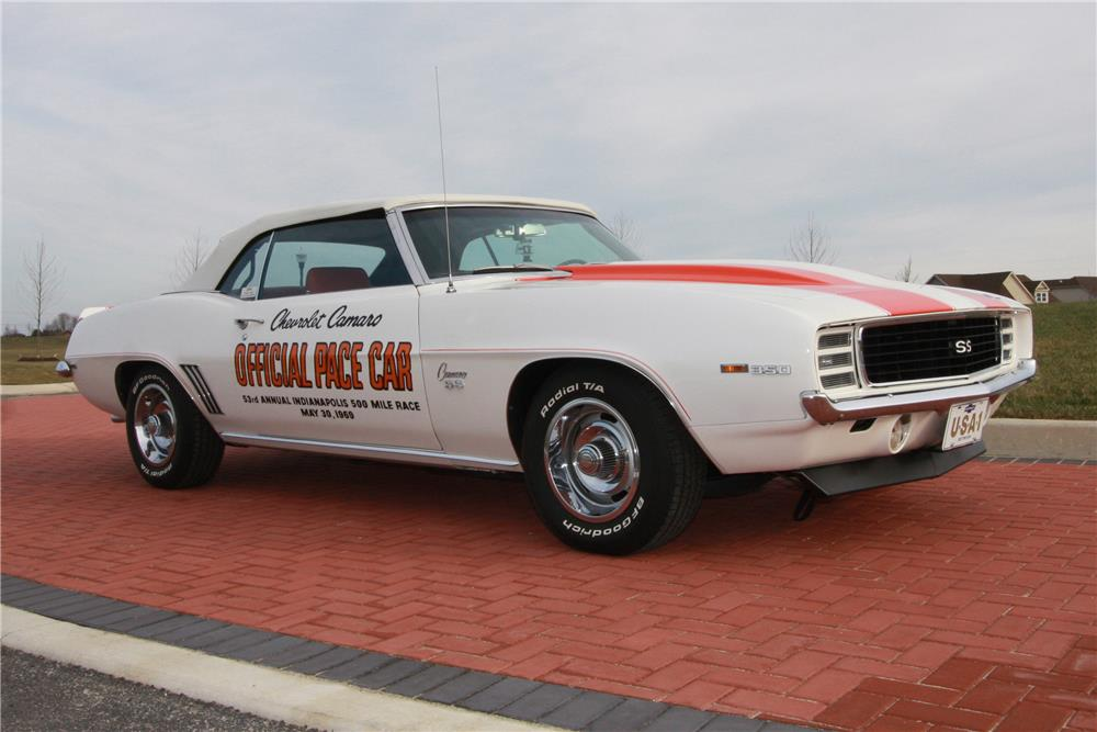 1969 CHEVROLET CAMARO INDY PACE CAR CONVERTIBLE - Front 3/4 - 180893