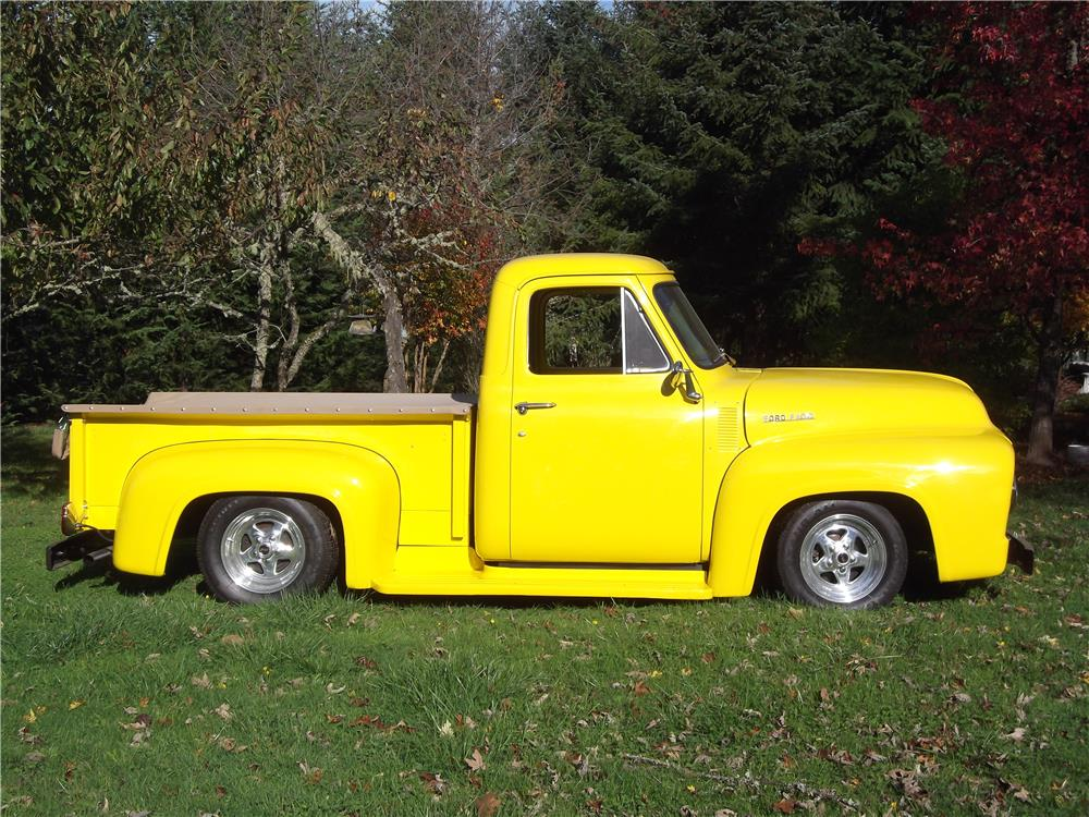 1953 FORD F-100 CUSTOM PICKUP - Side Profile - 180895