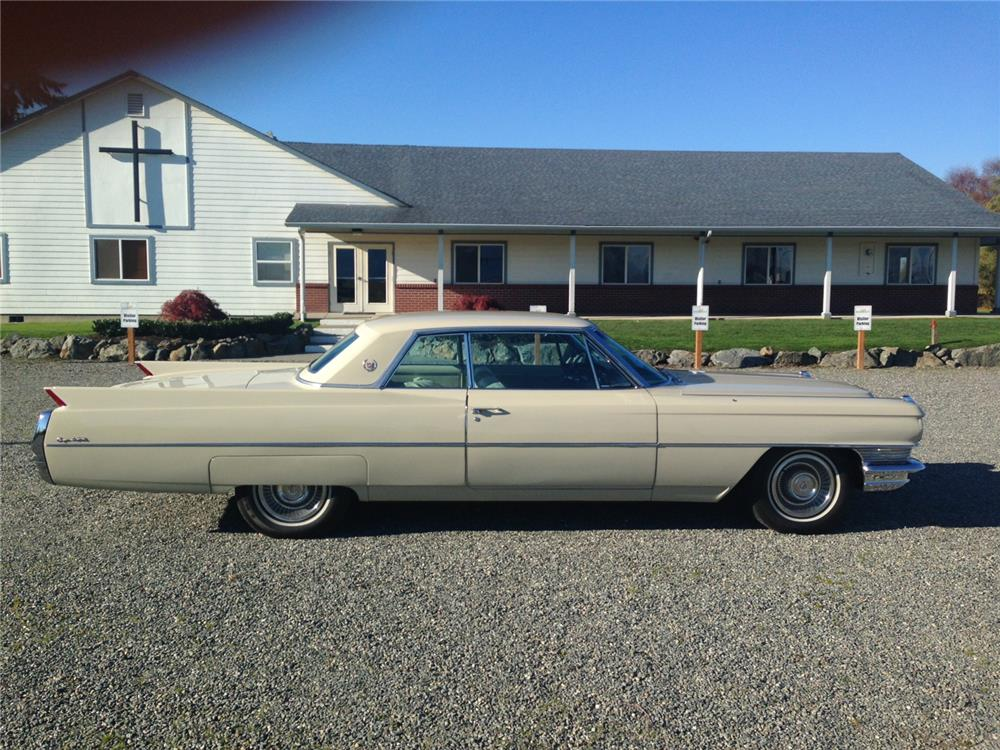 1964 CADILLAC COUPE DE VILLE - Side Profile - 180896
