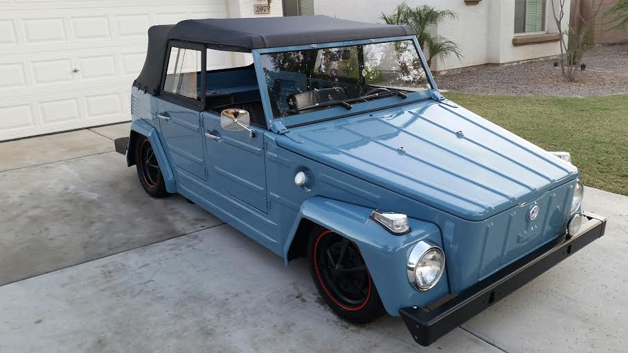1974 VOLKSWAGEN THING CONVERTIBLE - Front 3/4 - 180903