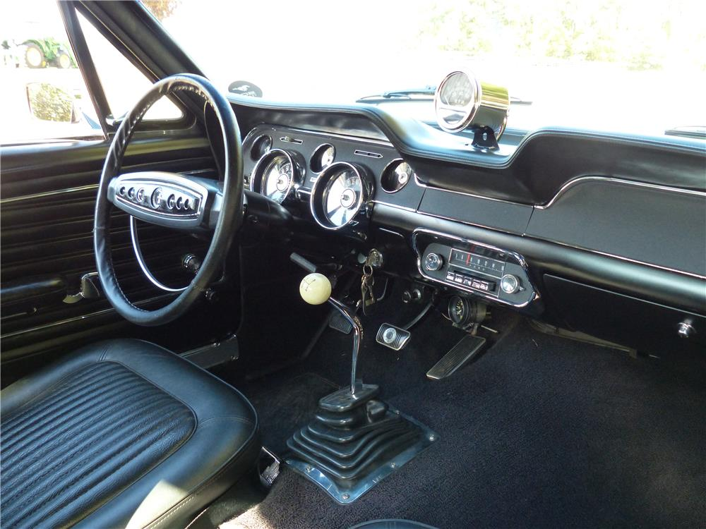 1968 FORD MUSTANG COBRA JET COUPE - Interior - 180962