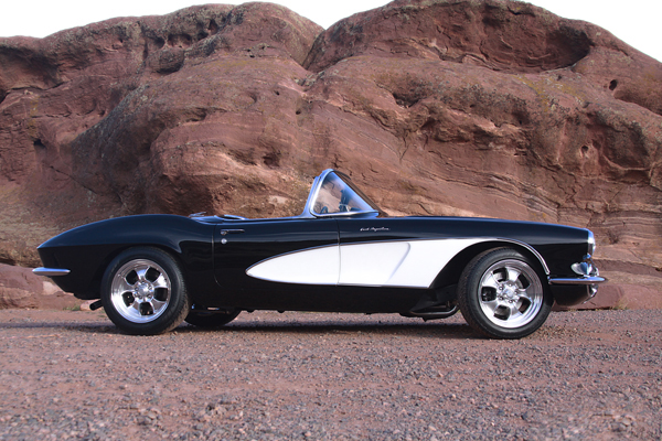 1958 CHEVROLET CORVETTE CUSTOM CONVERTIBLE - Side Profile - 180965