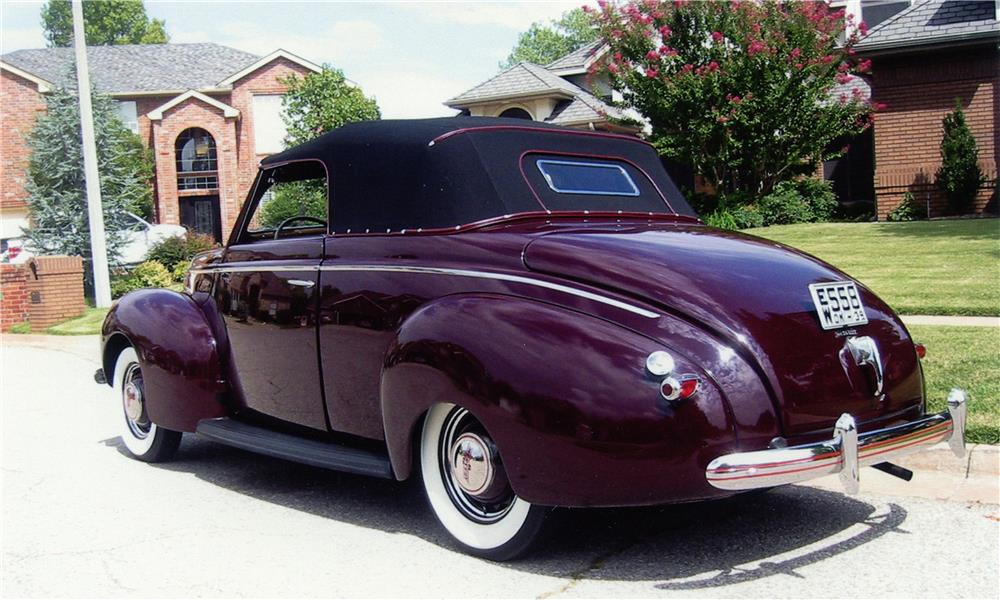 1939 MERCURY 99A SPORT CONVERTIBLE - Rear 3/4 - 180982
