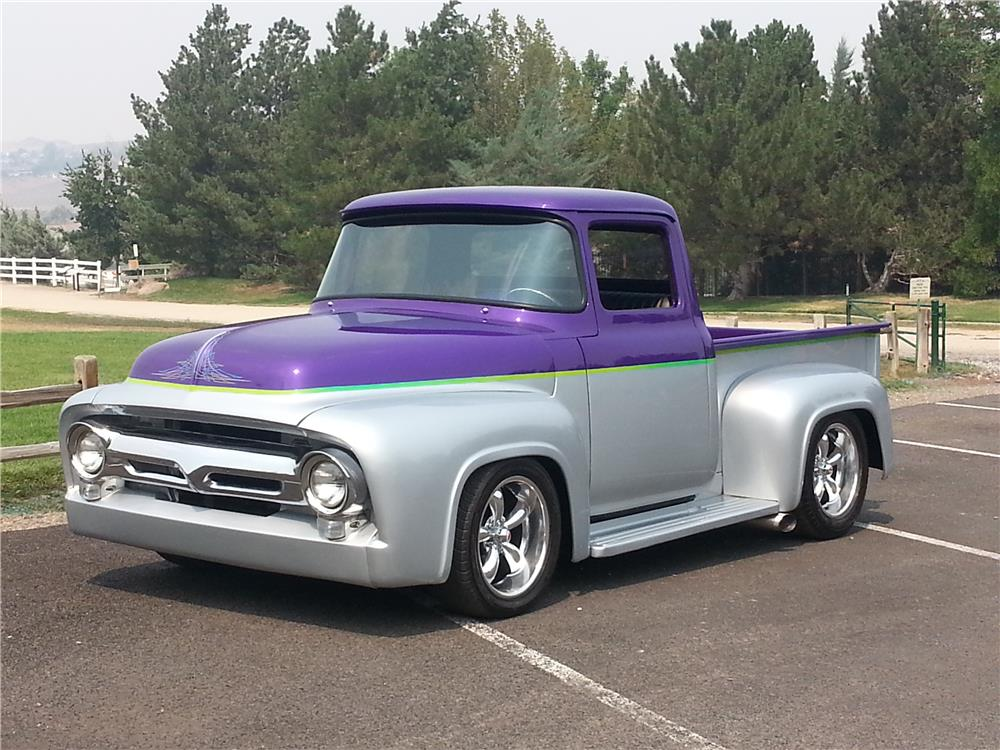1956 FORD F-100 CUSTOM PICKUP - Front 3/4 - 180983