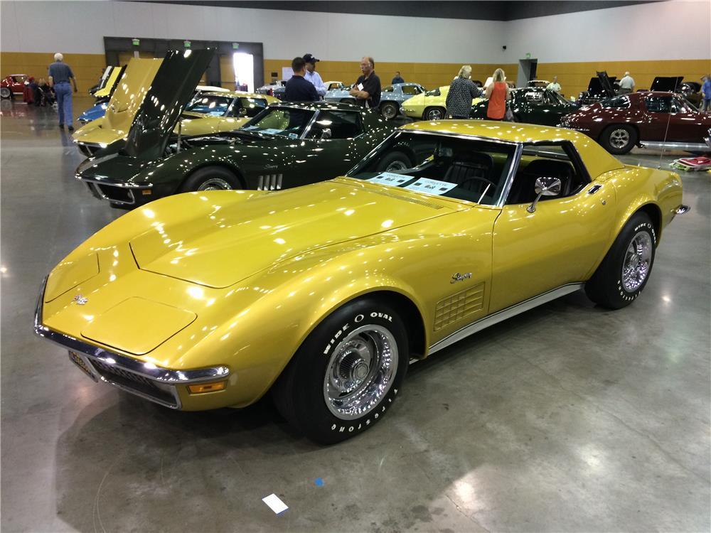1971 CHEVROLET CORVETTE CONVERTIBLE - Front 3/4 - 180995
