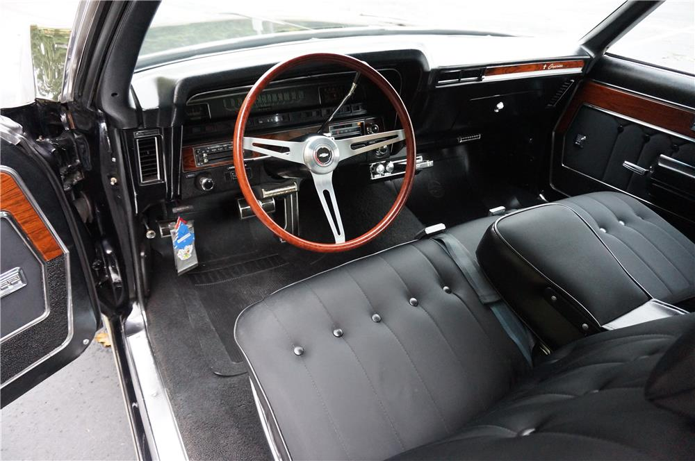1969 CHEVROLET CAPRICE 2 DOOR HARDTOP - Interior - 180996