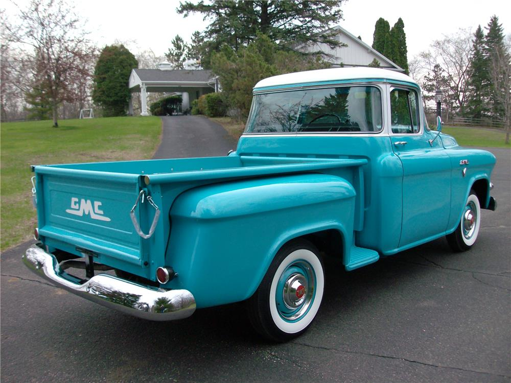 1957 GMC 100 PICKUP - Rear 3/4 - 181001