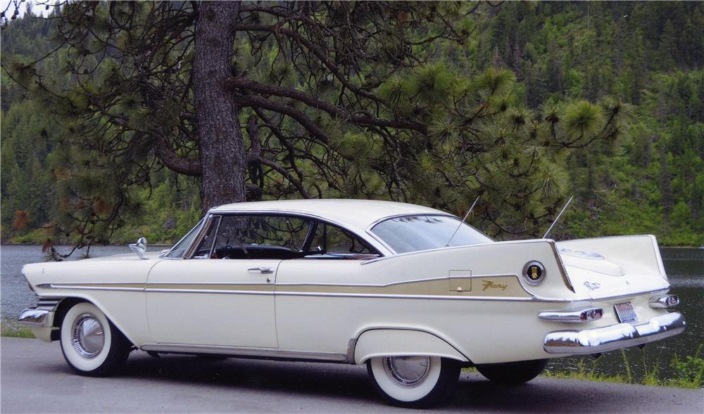 1959 PLYMOUTH SPORT FURY - Rear 3/4 - 181010