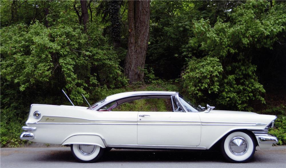 1959 PLYMOUTH SPORT FURY - Side Profile - 181010