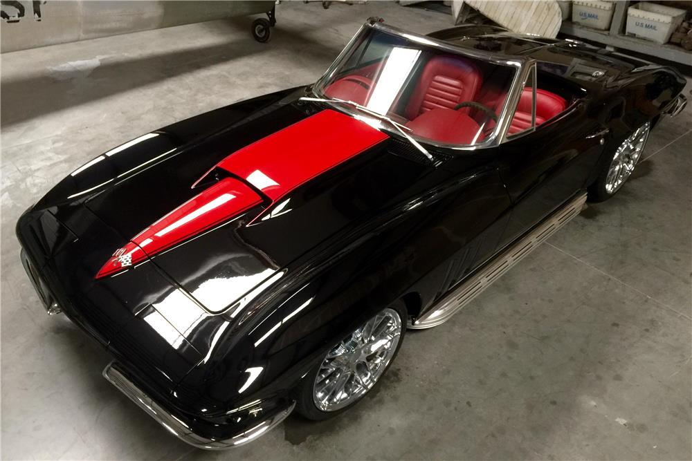 1966 CHEVROLET CORVETTE CUSTOM CONVERTIBLE - Front 3/4 - 181020