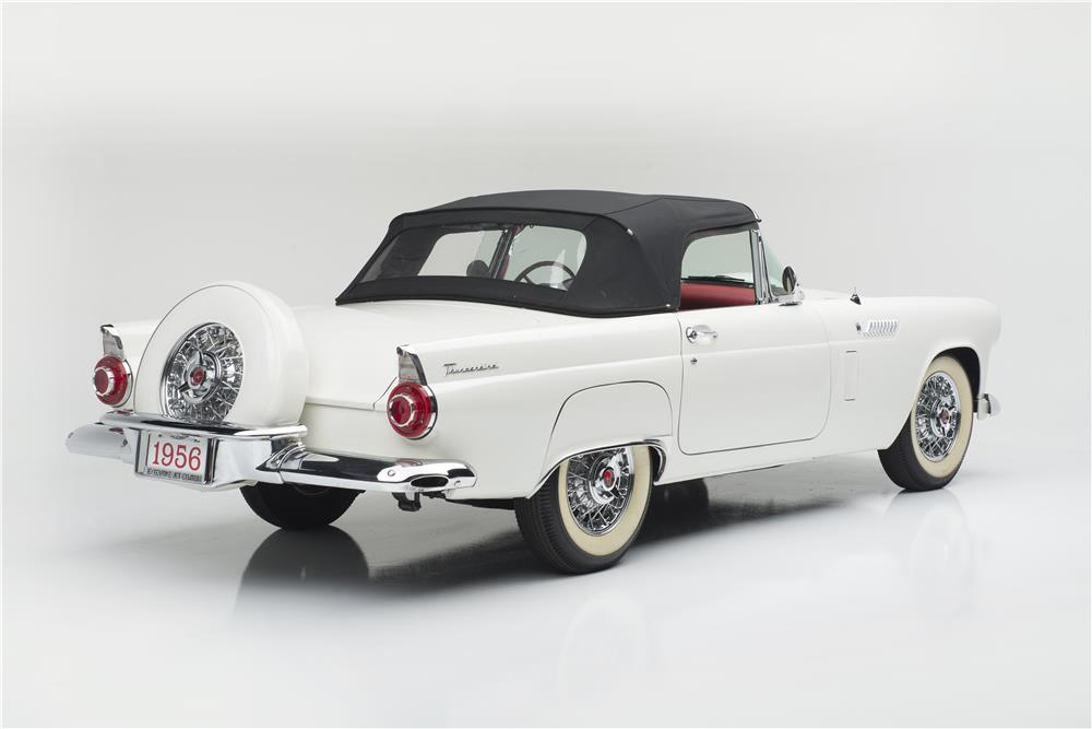 1956 FORD THUNDERBIRD CONVERTIBLE - Rear 3/4 - 181035