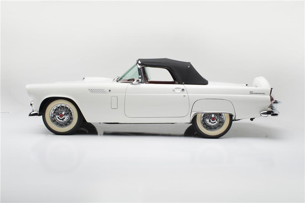1956 FORD THUNDERBIRD CONVERTIBLE - Side Profile - 181035