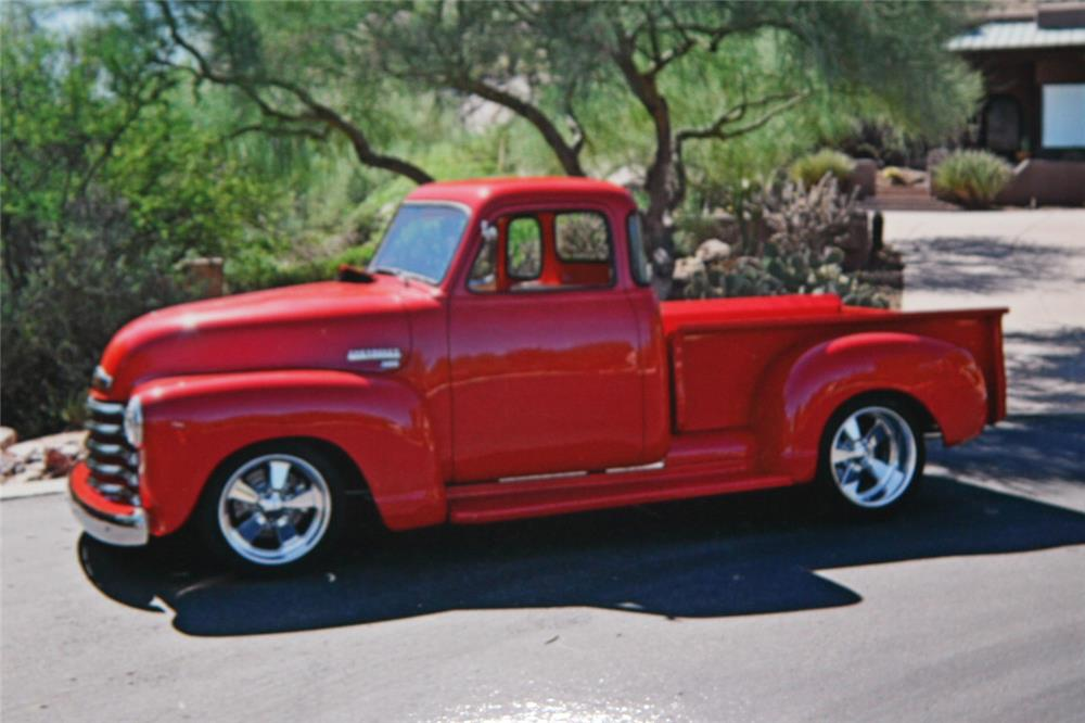 1950 CHEVROLET 3100 CUSTOM PICKUP - Side Profile - 181041