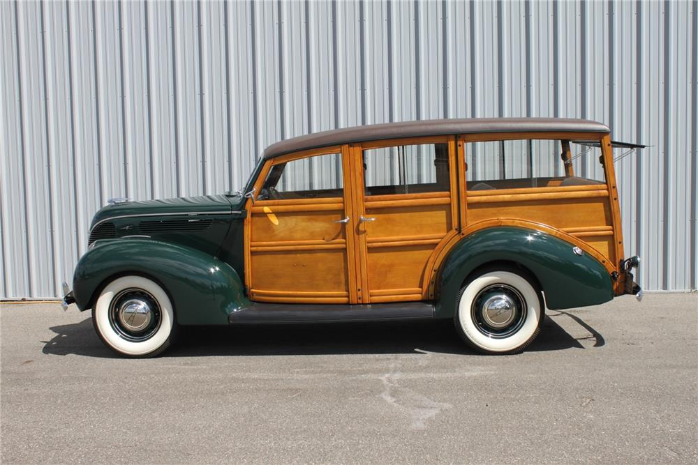 1938 FORD 4 DOOR WOODY WAGON - Side Profile - 181059