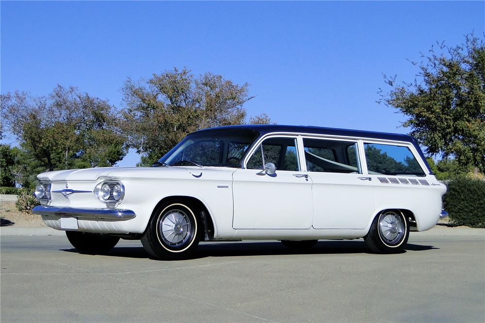 1961 CHEVROLET CORVAIR LAKEWOOD 500 STATION WAGON - Front 3/4 - 181073