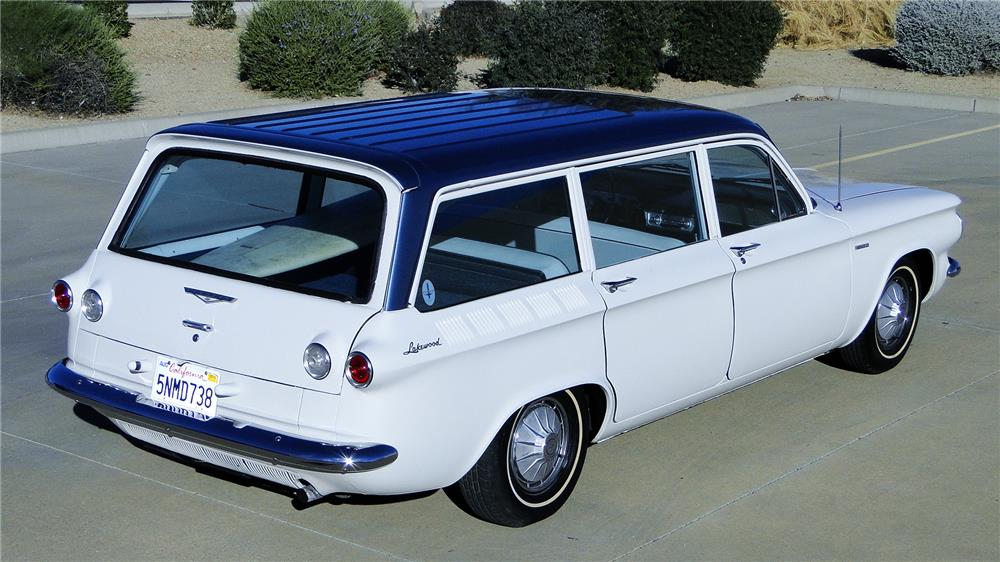1961 CHEVROLET CORVAIR LAKEWOOD 500 STATION WAGON - Rear 3/4 - 181073