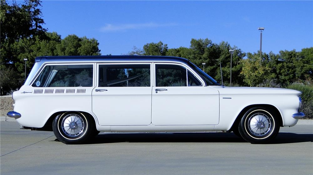 1961 CHEVROLET CORVAIR LAKEWOOD 500 STATION WAGON - Side Profile - 181073
