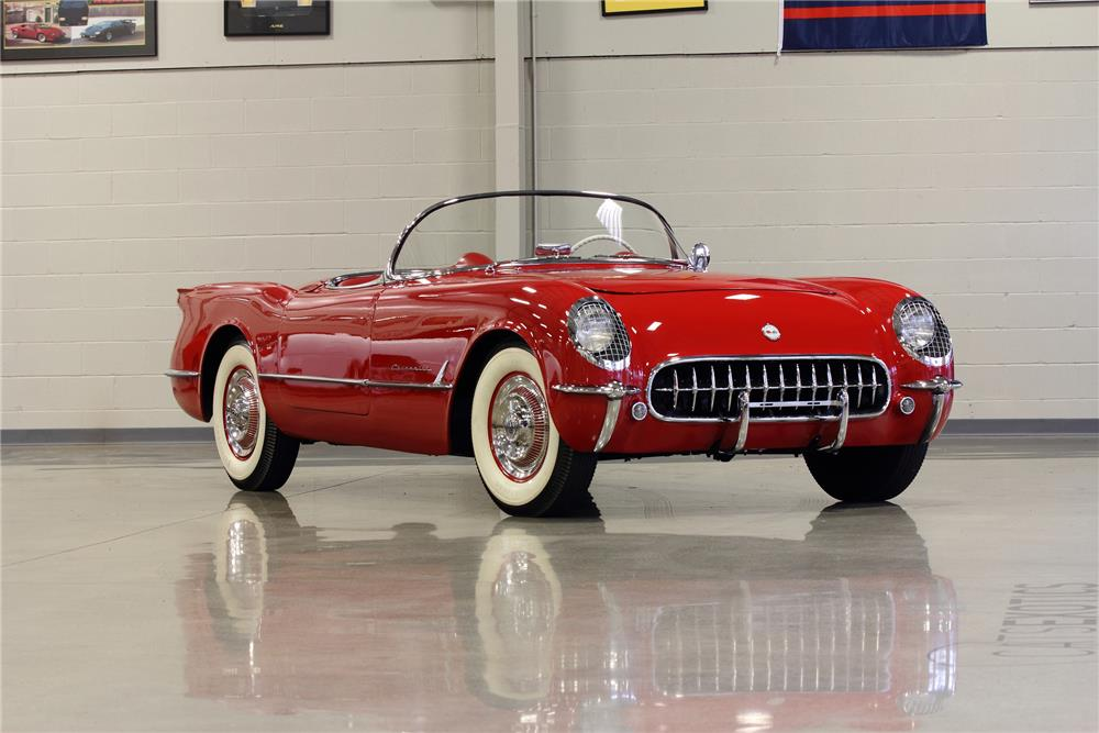 1954 CHEVROLET CORVETTE CONVERTIBLE - Front 3/4 - 181097