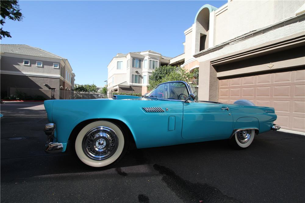 1956 FORD THUNDERBIRD CONVERTIBLE - Side Profile - 181120