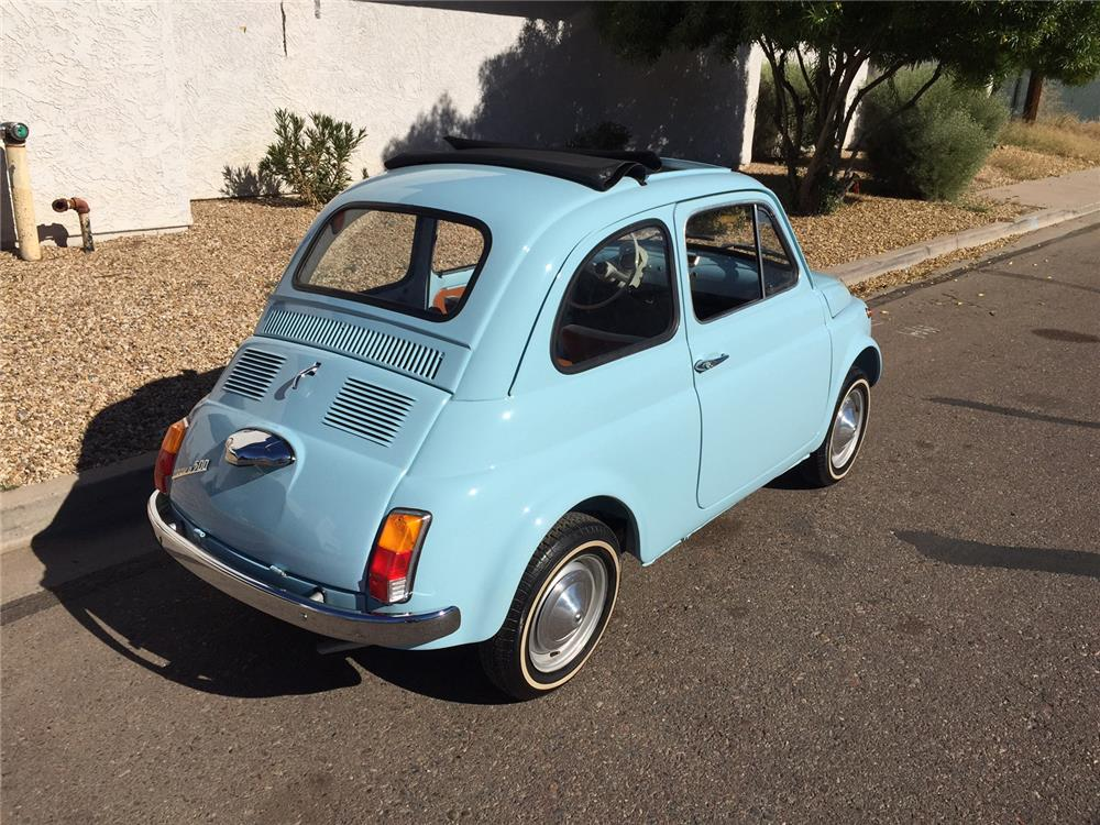 1967 FIAT 500 2 DOOR COUPE - Rear 3/4 - 181121