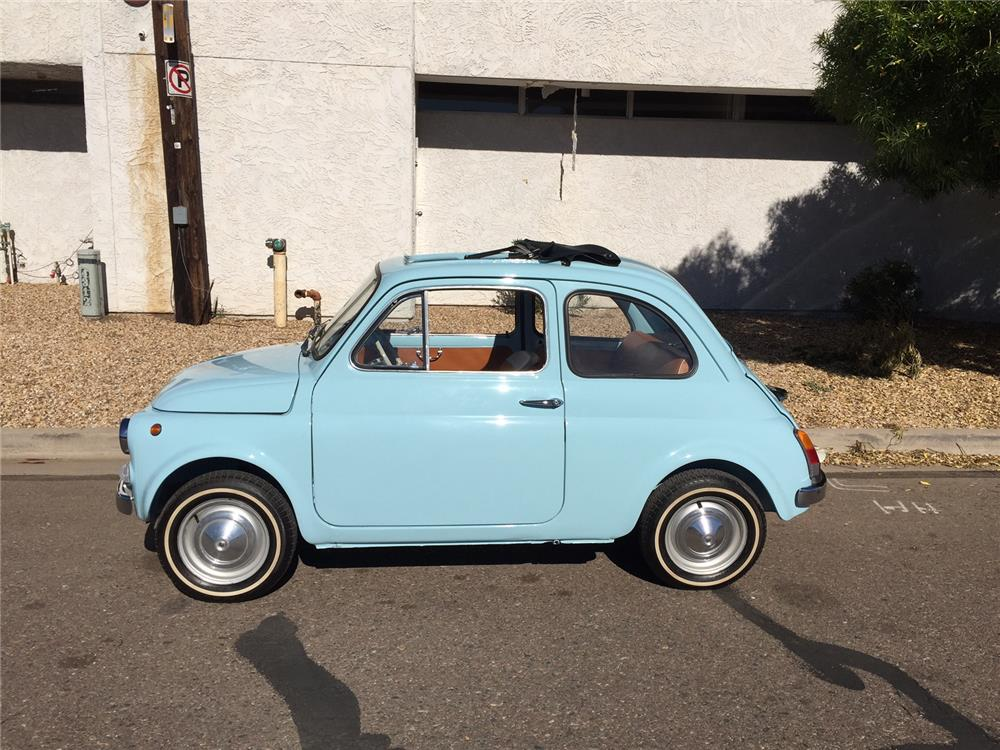 1967 FIAT 500 2 DOOR COUPE - Side Profile - 181121