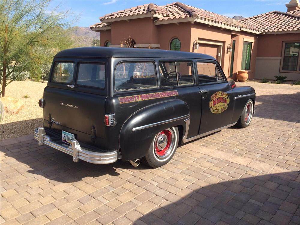 1949 PLYMOUTH SUBURBAN CUSTOM WAGON - Rear 3/4 - 181125
