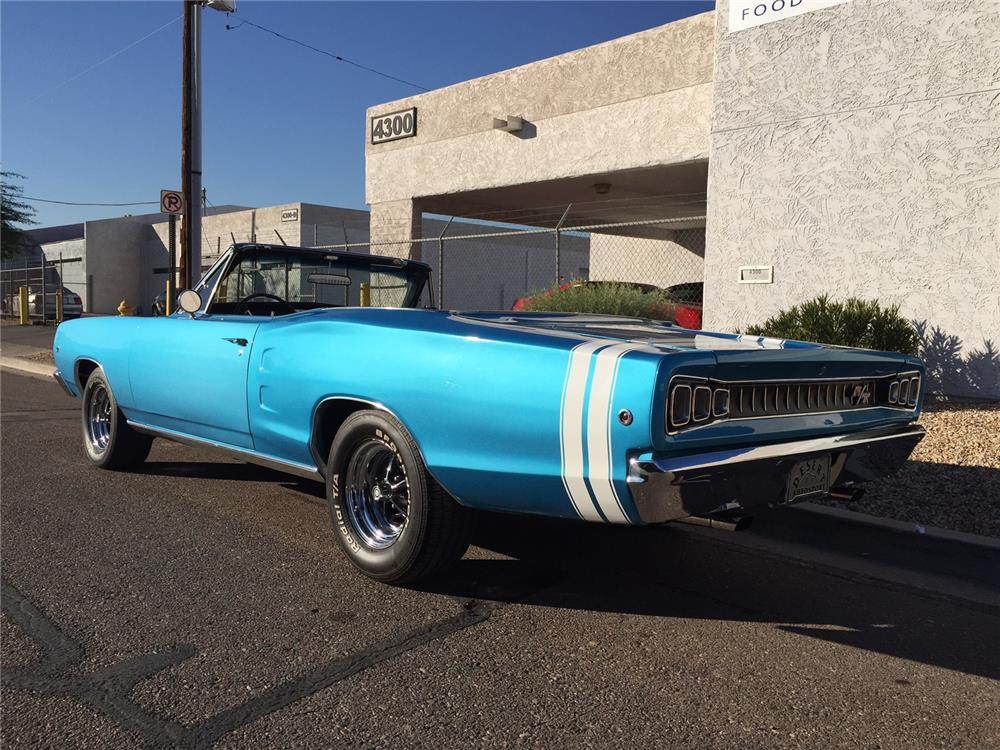 1968 DODGE CORONET CONVERTIBLE - Rear 3/4 - 181130