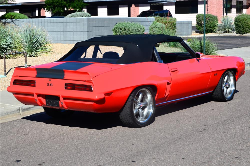1969 CHEVROLET CAMARO CUSTOM CONVERTIBLE - Rear 3/4 - 181211