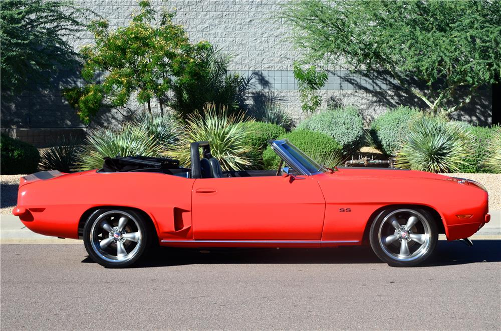 1969 CHEVROLET CAMARO CUSTOM CONVERTIBLE - Side Profile - 181211