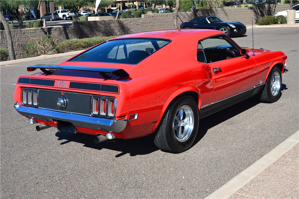 1970 FORD MUSTANG MACH 1 CUSTOM FASTBACK - Rear 3/4 - 181212