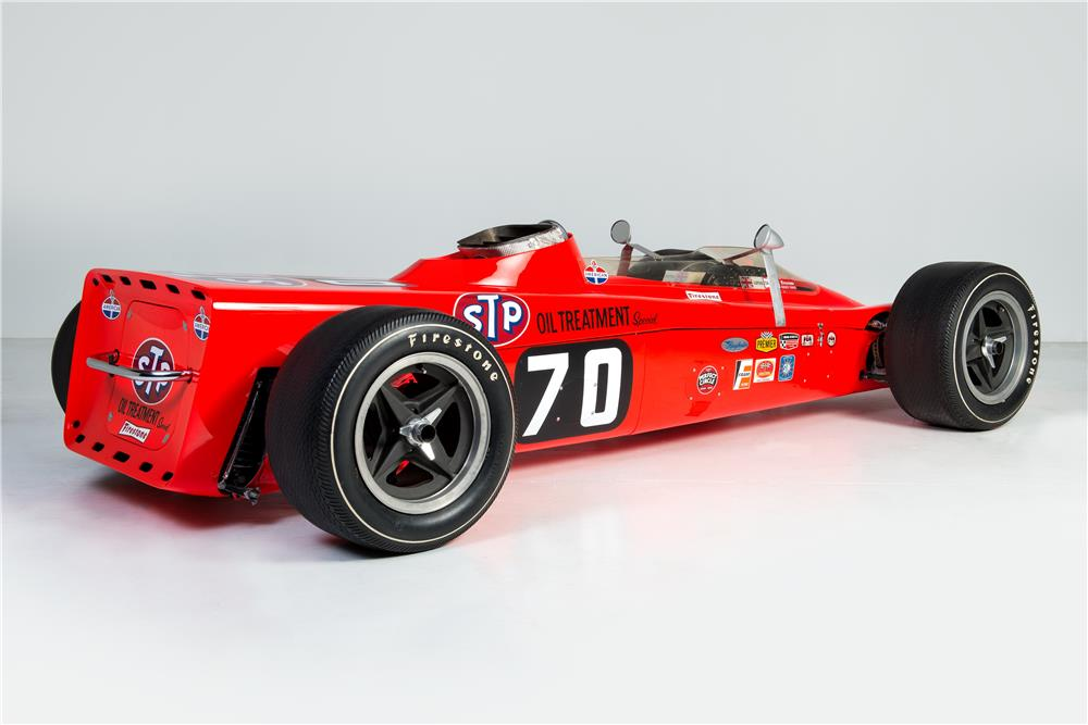 1968 LOTUS TURBINE-POWERED INDY RACE CAR - Rear 3/4 - 181235