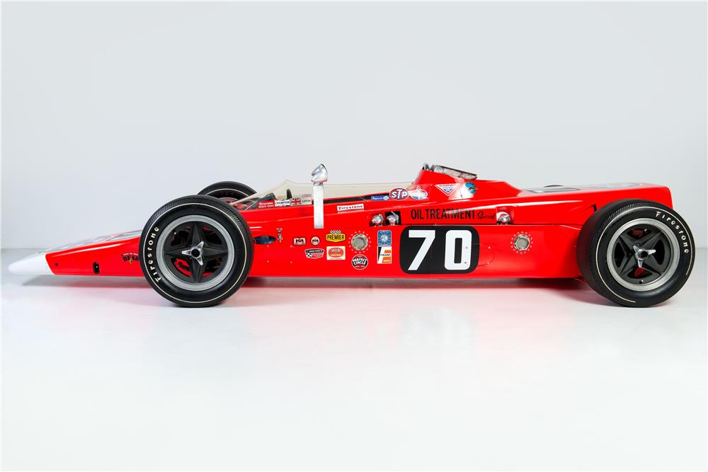 1968 LOTUS TURBINE-POWERED INDY RACE CAR - Side Profile - 181235