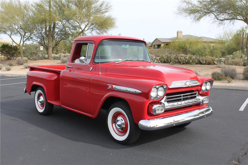 1959 CHEVROLET 3100 PICKUP - Front 3/4 - 181258