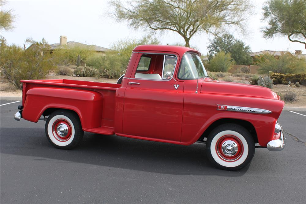 1959 CHEVROLET 3100 PICKUP - Side Profile - 181258