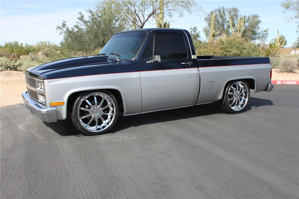 1985 CHEVROLET C-10 CUSTOM PICKUP - Side Profile - 181259