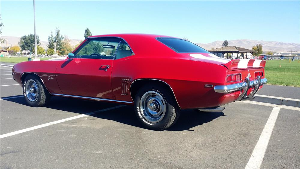 1969 CHEVROLET CAMARO 2 DOOR COUPE - Rear 3/4 - 181267