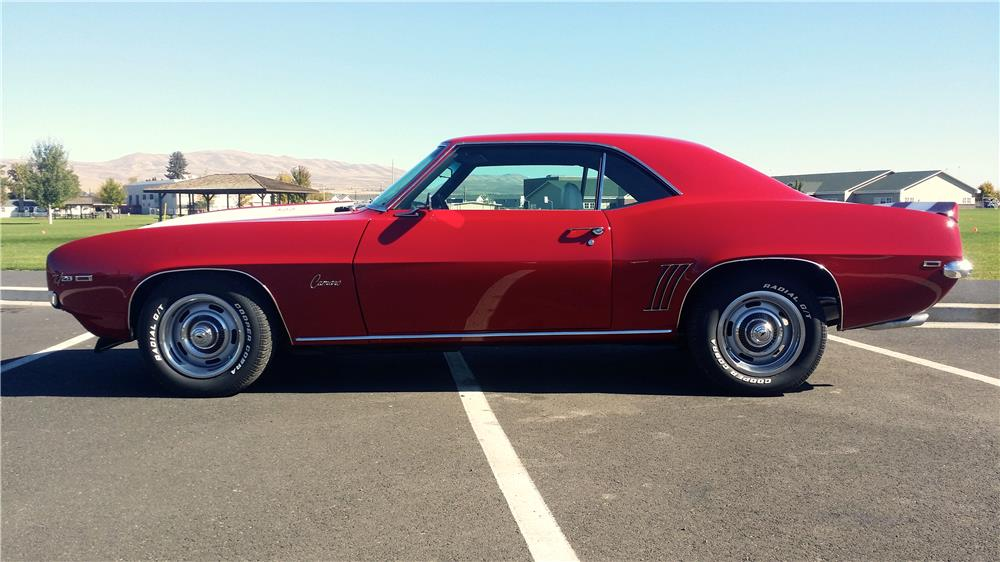 1969 CHEVROLET CAMARO 2 DOOR COUPE - Side Profile - 181267