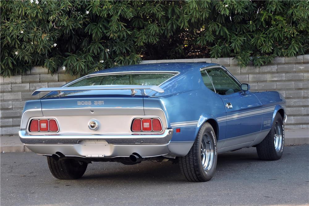 1971 FORD MUSTANG BOSS 351 FASTBACK - Rear 3/4 - 181277