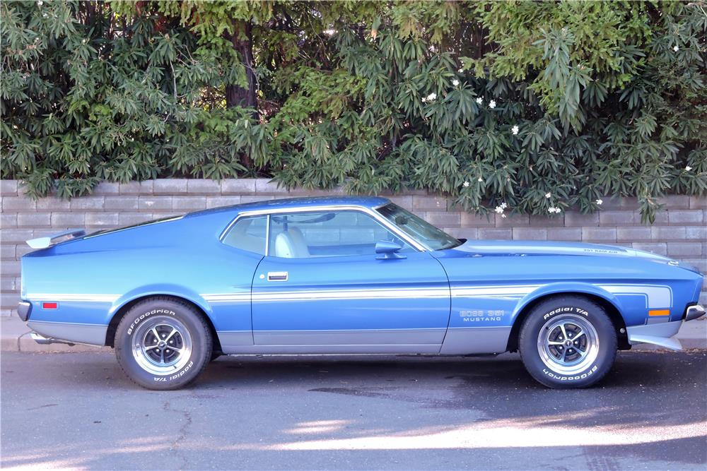 1971 FORD MUSTANG BOSS 351 FASTBACK - Side Profile - 181277