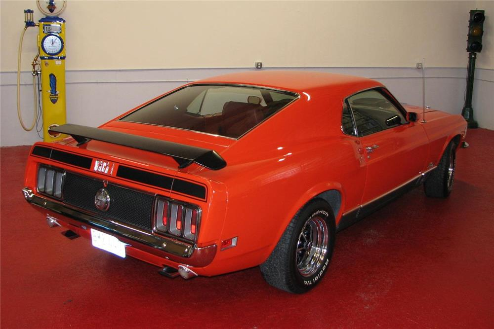 1970 FORD MUSTANG MACH 1 428 CJ FASTBACK - Rear 3/4 - 181345