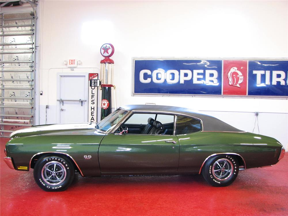 1970 CHEVROLET CHEVELLE LS6 - Side Profile - 181353