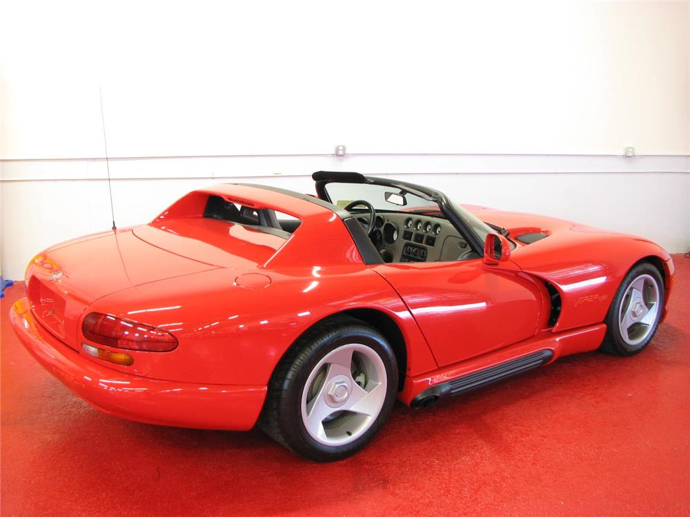 1992 DODGE VIPER RT/10 CONVERTIBLE - Rear 3/4 - 181357