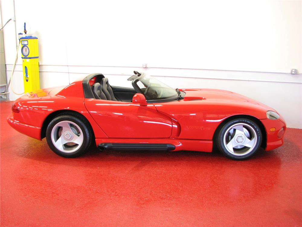 1992 DODGE VIPER RT/10 CONVERTIBLE - Side Profile - 181357