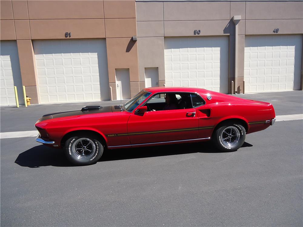 1969 FORD MUSTANG MACH 1 FASTBACK - Side Profile - 181365