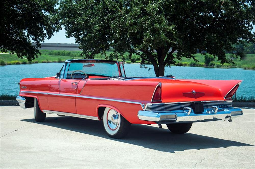 1957 LINCOLN PREMIERE CONVERTIBLE - Rear 3/4 - 181378